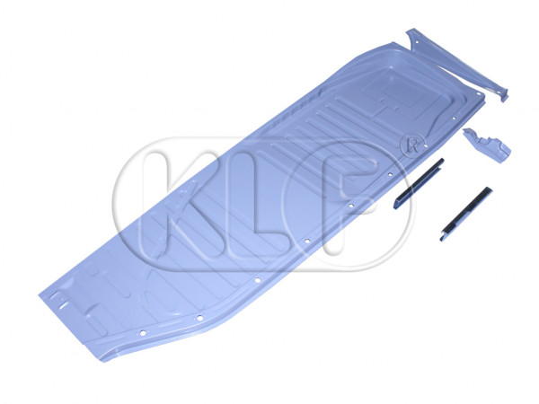 Floor Pan, left, with seat rails, top quality, year 8/72 on