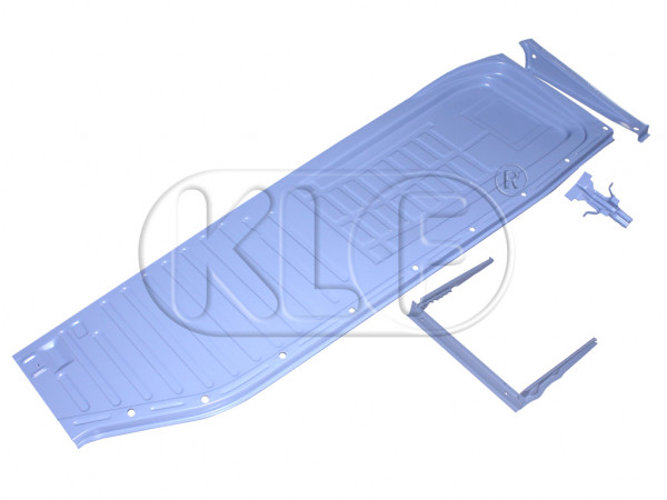 Floorpan Half left, with seat runners, top-quality, year 8/55-7/70