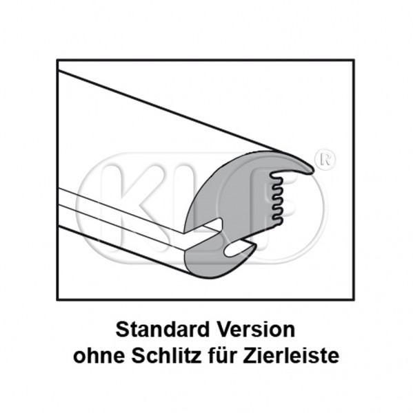 Rear Window Seal standard, year 08/71 - 12/77 and year 08/84 on