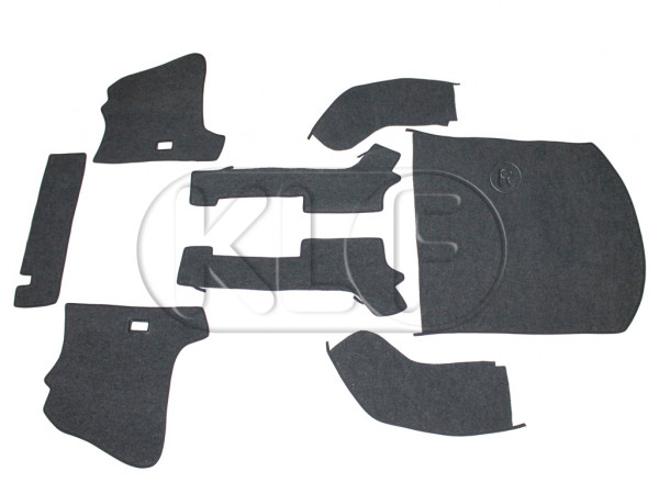 Carpet Set, convertible, Syntetic Material, charcoal, year 08/64 - 07/67