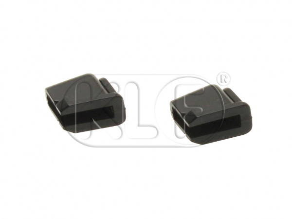 Rubber Stops for Door Window, convertible, year 8/64 on, pair