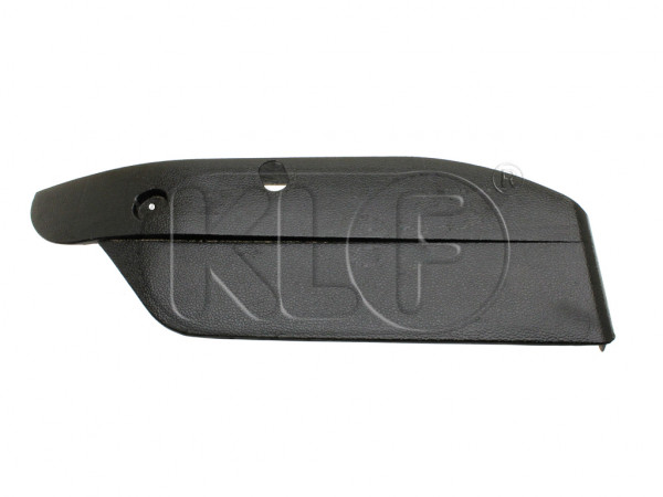 Cover Plate for seat frame left outer, plastic, year 08/72 - 07/75
