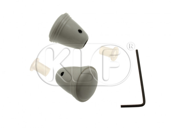Knob for Radio, grey, pair, year thru 7/67