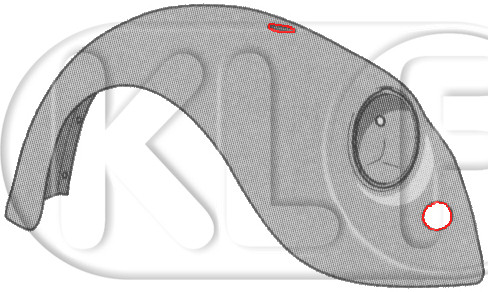 Fender front right, year 08/67 - 07/73