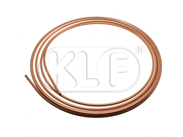 Fuel Line in tunnel, copper, 6mm, 5m roll