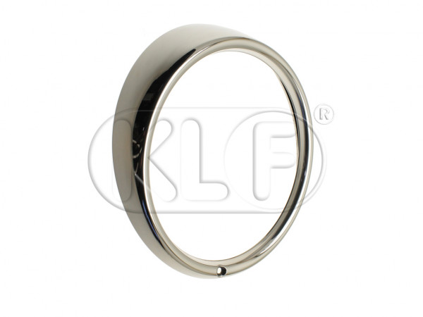 Headlight Ring, chrome, stainless steel, year 7/73 on