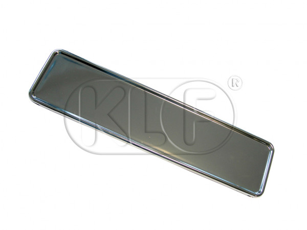 License Base Plate, polished aluminum, for 52cm x 11cm license plate