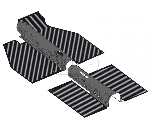 Floor Mat Set, rubber 2 pcs, year 8/67-7/72