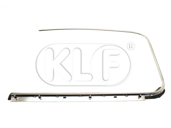 Door Window Scraper outer left with chrome molding, Top Quality, year 10/52 - 07/64