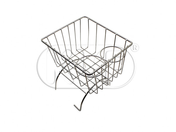Center tunnel basket, chrome, fits all year and model