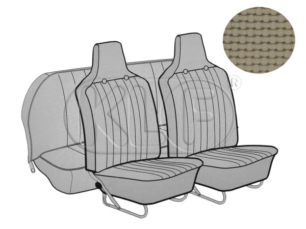 Seat Covers, front+rear, Basket, year 8/6 sedan, beige with integrated headrest
