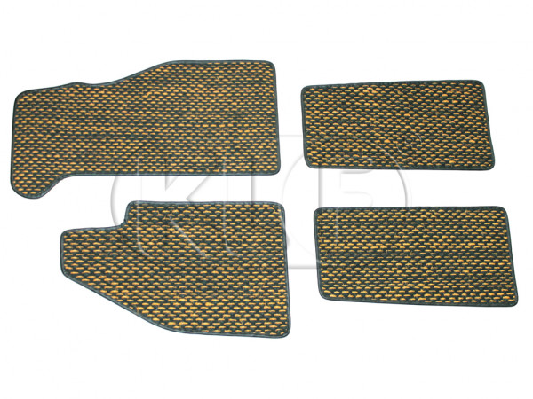 Coco Mats, set of 4, year 8/59-7/72 yellow/black