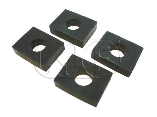 Rubber Mounting Pad, body to chassis rear, 10 mm, set of 4