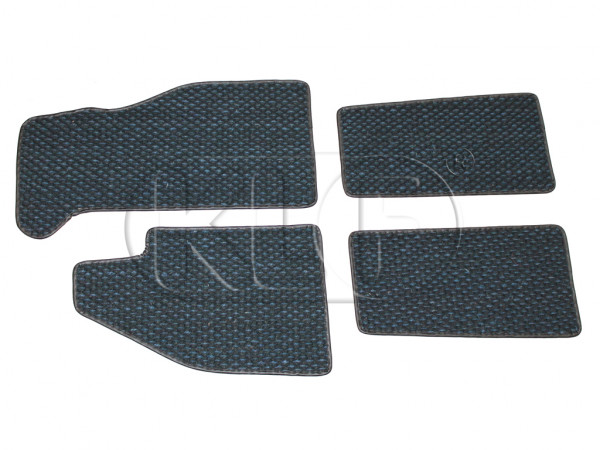 Coco Mats, set of 4, year 8/57-7/72 blue/black