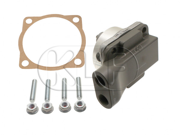 Oil Pump heavy duty, 26 mm, with in- and outlet, year thru 7/71 (3-hole camshaft gear) German Quality