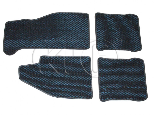 Coco Mats, set of 4, year 8/72 on blue/black