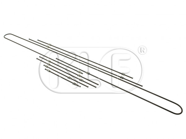Brake Pipe Set, 1303 only, with front drums, year 8/73 on