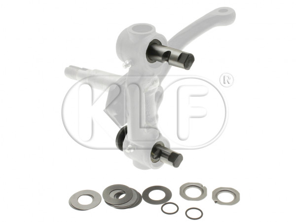 Link Pin Set, complete for both sides, 40 shims, year thru 07/65