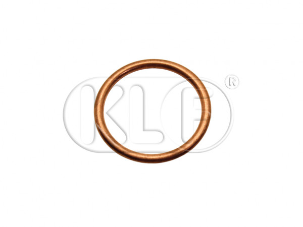 Copper Seal crush for manifold, 26 x 32 x 2,5 mm, 22-25 kW (30-34 PS), year 08/55 - 12/62