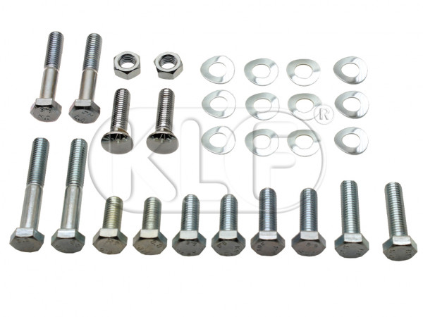 Bumper Bolt Kit, for export version, front, year 09/52 - 07/67