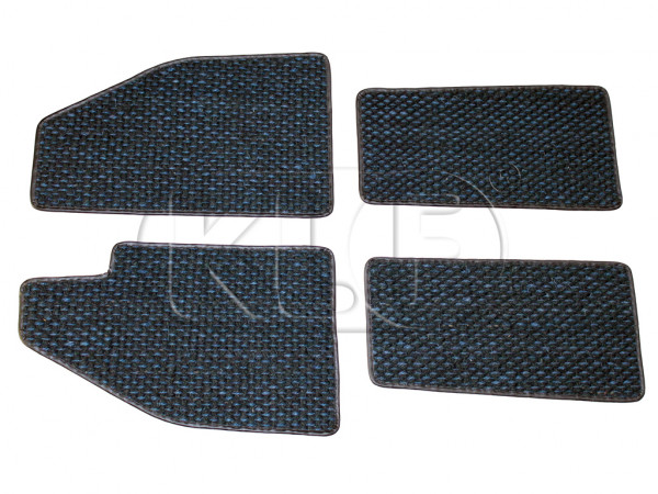 Coco Mats, set of 4, year 8/57-7/59 blue/black
