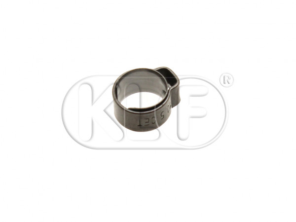 Stepless Ear Clamp, stainless steel, for vacuum hose 4,5mm