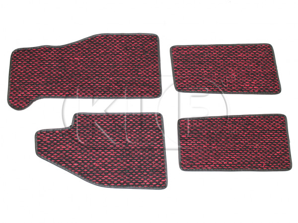Coco Mats, set of 4, year 8/59-7/72 red/black