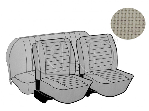 Seat Covers, front+rear, Basket, year 8/7 sedan, off white
