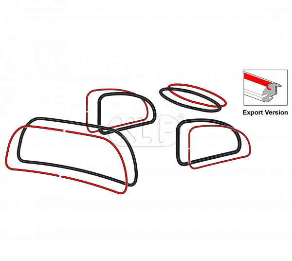 Aluminum Trim Insert Set for Windows, not 1303, year 08/71 - 12/77 and year 08/84 on