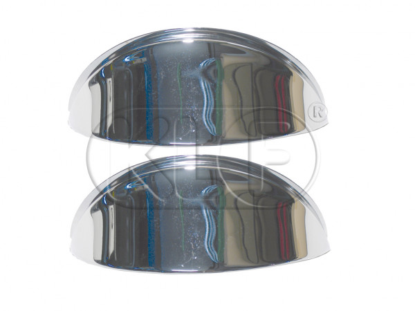 Headlight Eyebrows chrome, pair, year thru 7/67
