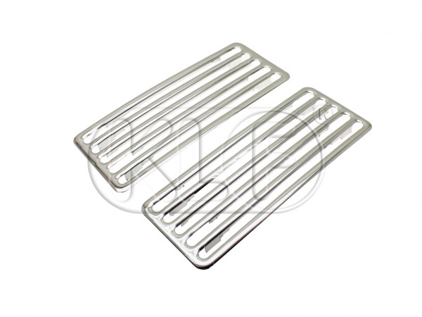 Rear Grill for Deck Lid chrome, 2 pcs
