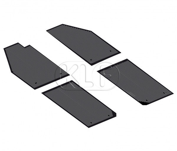 Floor Mat Set, rubber black, 4 pcs, year 8/49-7/55