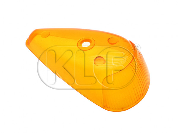 Turn Signal Lens, yellow, year 11/63-7/74
