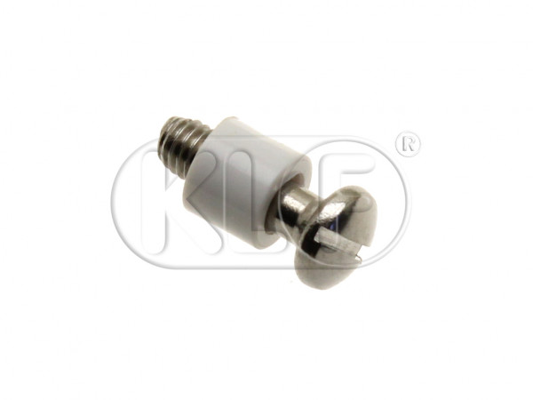 Mount Screw with Spacer for Head Light Ring, year thru 7/67