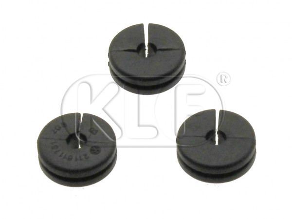Rubber Grommet, brake line to chassis, set of 3