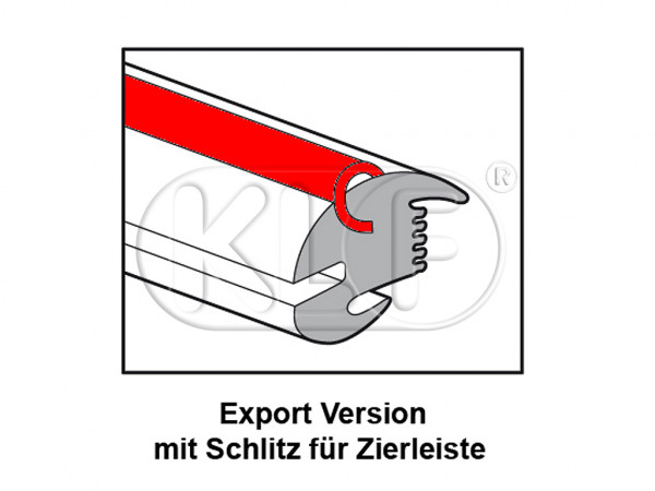Rear Window Seal export, year 08/64 - 07/71 and year 01/78 - 07/84