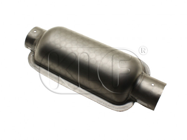 Heater channel muffler half, fits left and right, year thru 07/55