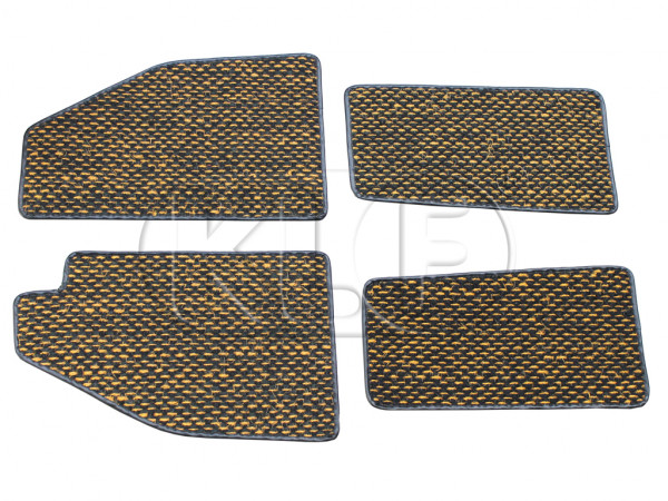 Coco Mats, set of 4, year thru 7/57 yellow/black