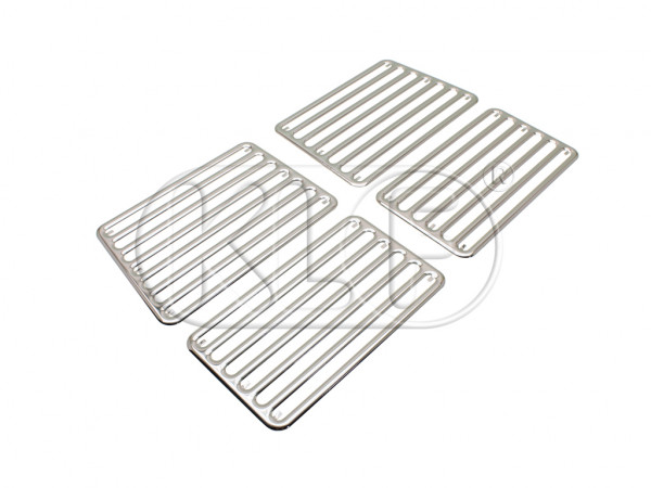 Rear Grill for Deck Lid chrome, 4 pcs