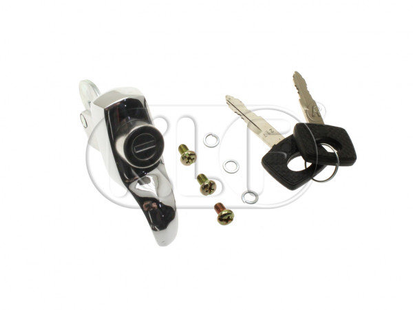 Handle for Deck Lid with 2 keys, year 8/67-7/71