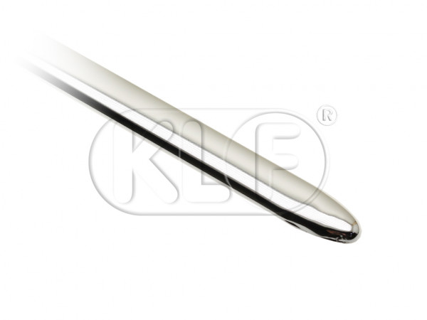Molding for front hood, polished stainless steel, lenght 990mm, year 10/62 on