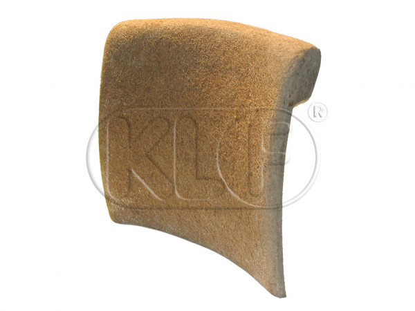 Pad for Front Seat Backrest, ( seat without headrest ) year 12/66-7/72