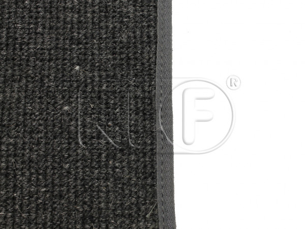Carpet Set, convertible, German square weave, charcoal, year 08/56 - 59 ( through chassis # 2154169 )