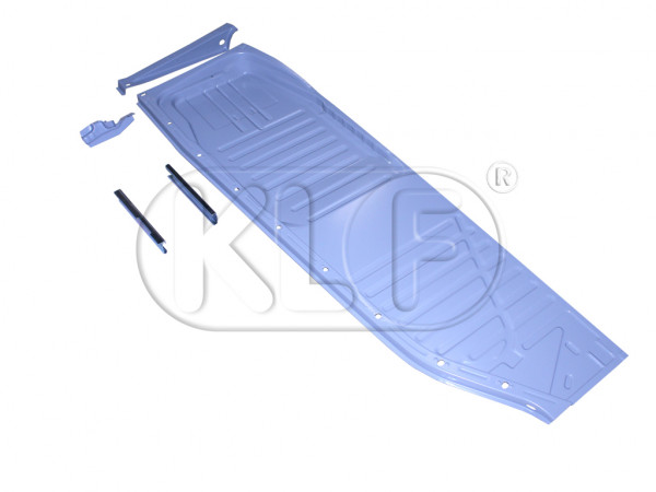 Floor Pan, right, with seat rails, top quality, year 8/72 on