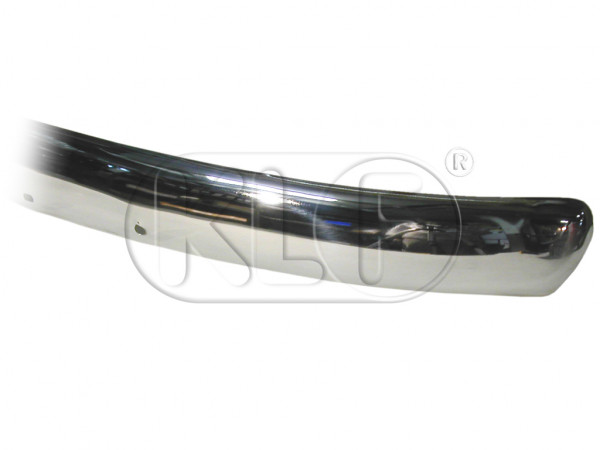 Bumper Blade front, chrome, stainless steel, top quality, year 09/52 - 07/67